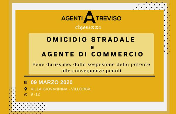 AGENTE DI COMMERCIO E OMICIDIO STRADALE
